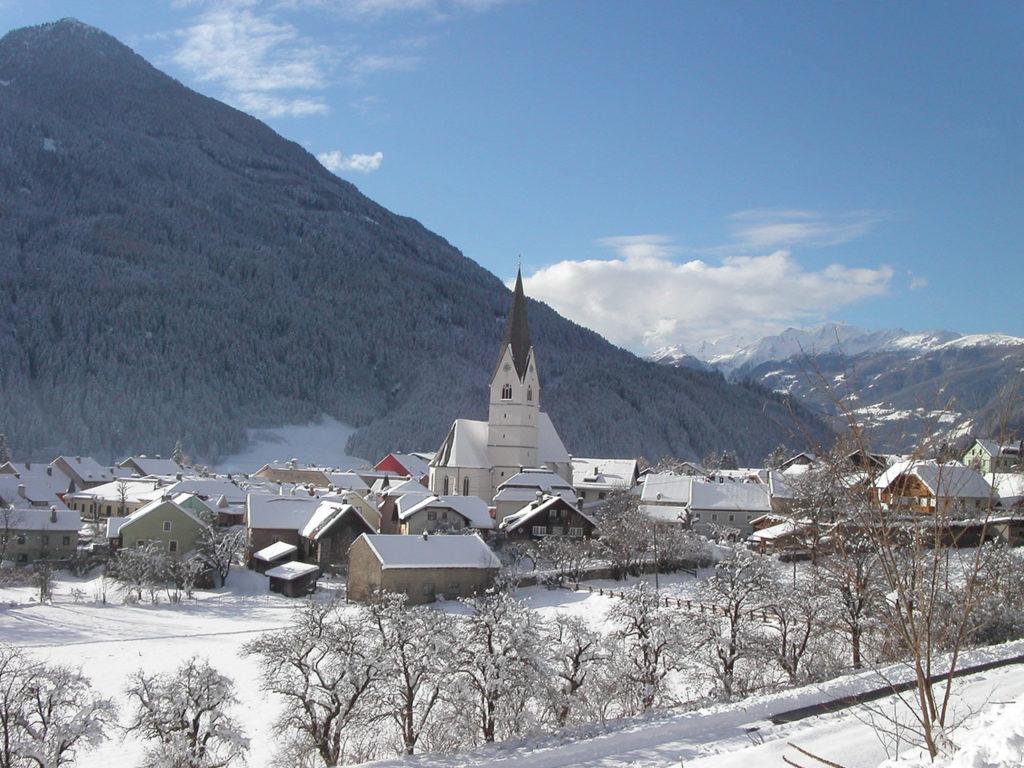 Winter_Obervellach_Ortsbild